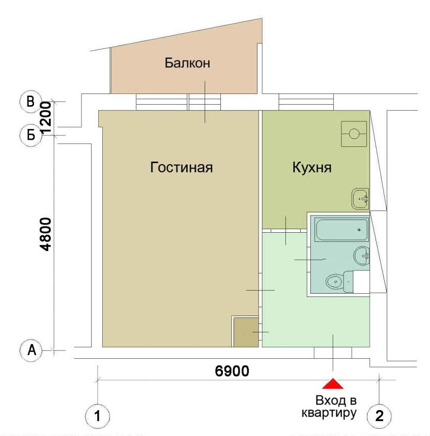 Типовые проекты перепланировки квартир1-515/9ш.