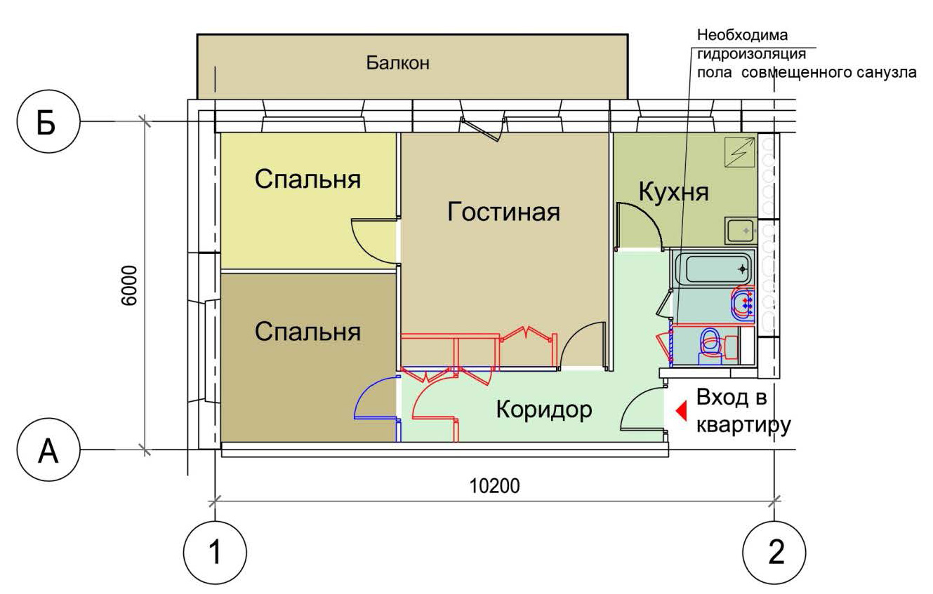 Перепланировка 3 х комнатной квартиры хрущевки в кирпичном