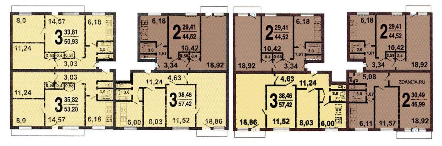 Перепланировка квартир 1-515/9м, варианты перепланировки в д.