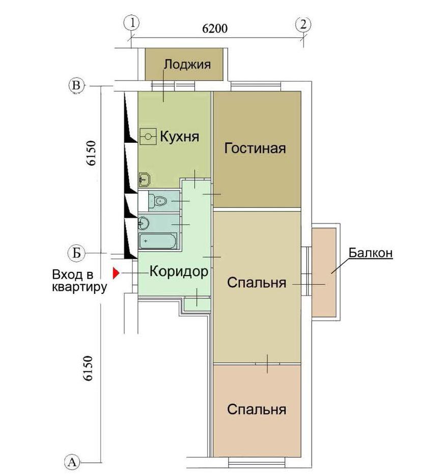 Перепланировка квартир в домах серии ii-18.