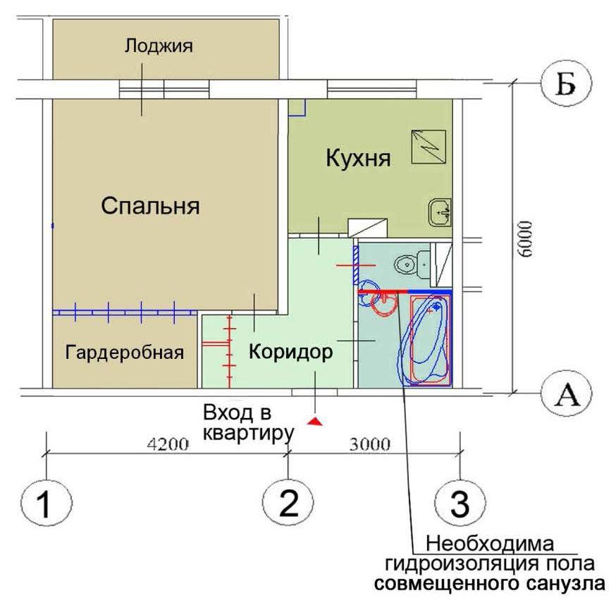 Перепланировка квартир П-46, варианты перепланировки в ... Керамзитобетонные Блоки