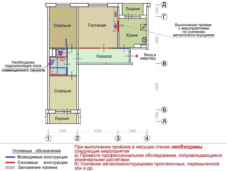 Серия дома п-30 - перепланировки, планировки с размерами.